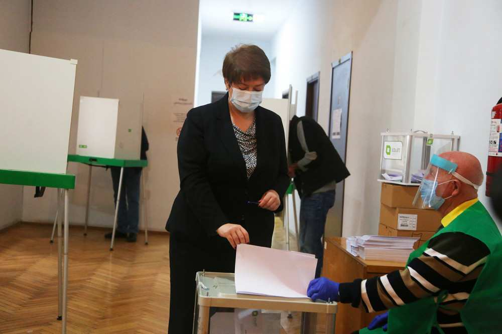 I Am Pleased to See the Queues at the Polling Stations -  Maia Tskitishvili