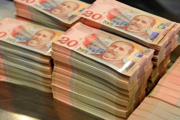 The lari strengthened against the dollar and the euro