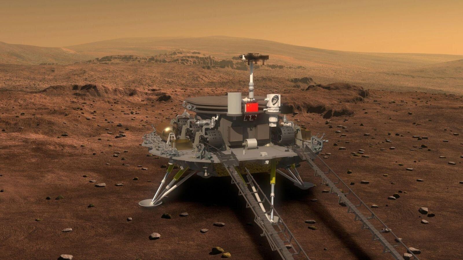 China Lands on Mars