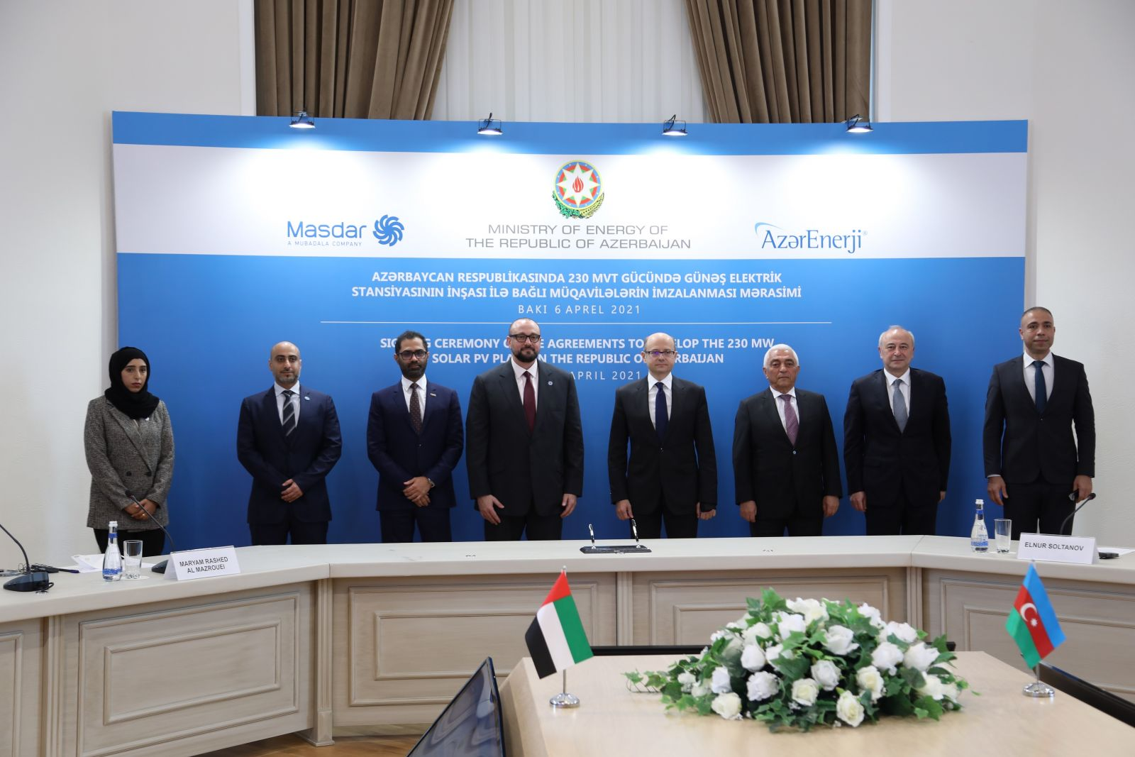 Azerbaijan signs agreement on solar power plant (230 MW) project with Masdar