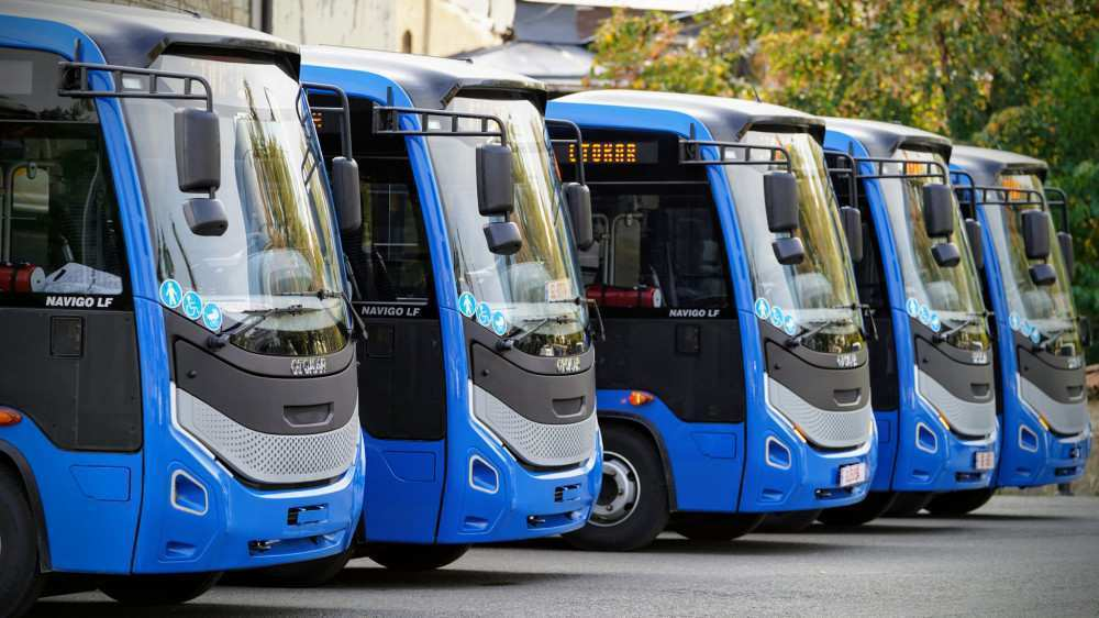 New 8.5-Meter Buses Were Sent to Telavi – Transport Is Designed for 50 Passengers