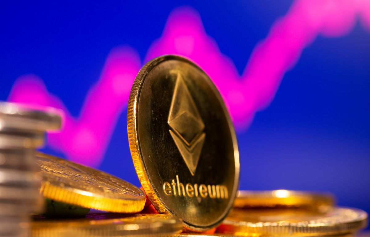Cryptocurrency ether rises to new record high over $3,600