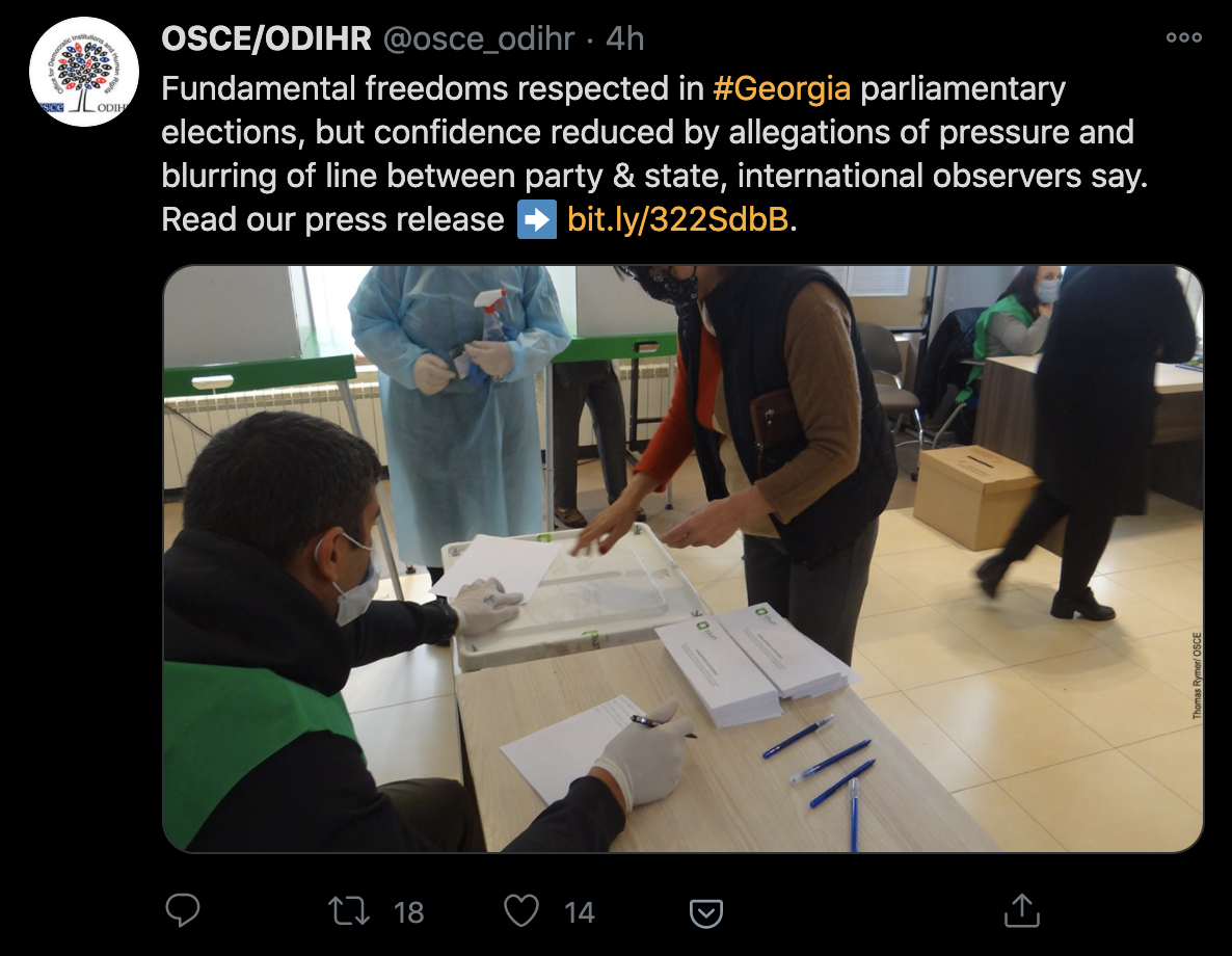 International Missions Assess Elections 2020