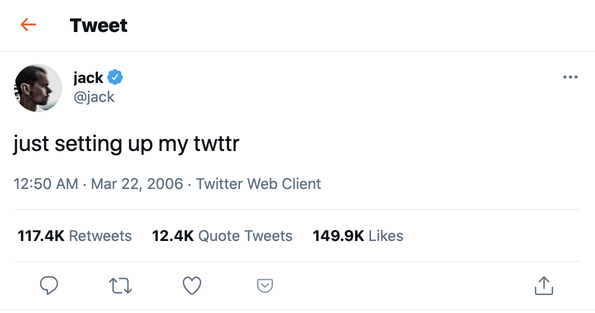 Twitter CEO is selling the first-ever tweet - current bid: $2.5 million