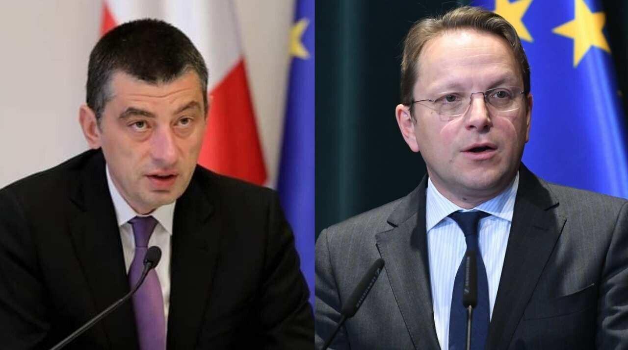 Giorgi Gakharia and Oliver Varhelyi Hold Telephone Conversation