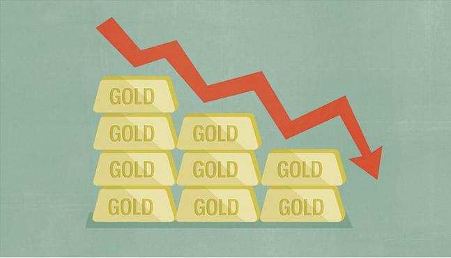 ოქროს ფასი ექვსი წლის მინიმუმამდე დაეცა