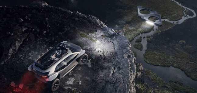 დრონები ფარების ნაცვლად - ავტომობილი მარსის როვერის ვიზუალით