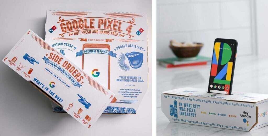 Google- მა ჟურნალისტებს ახალი სმარტფონები პიცის ყუთებით გაუგზავნა