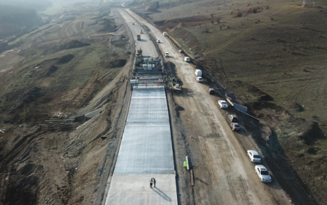 Laying of Concrete pavement are underway on Khashuri Bypass Road