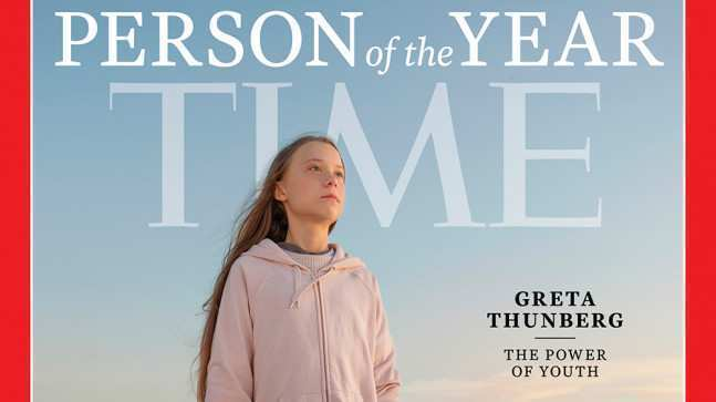 TIME-მა 2019 წლის ადამიანად გრეტა თუნბერგი დაასახელა
