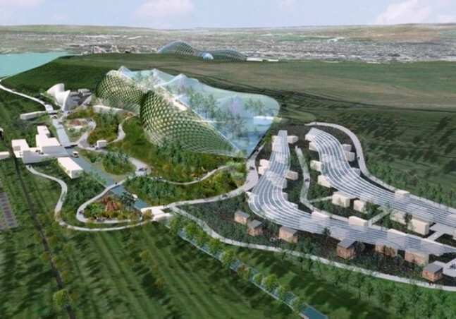 At what stage is the construction of a new zoo on the Tbilisi Sea? -