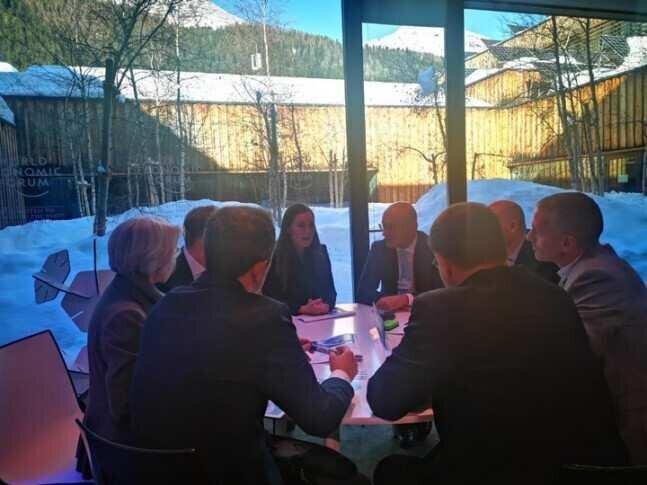 Machavariani has met Prime Minister of Finland in Davos