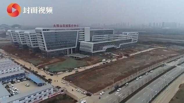ჩინეთის ქალაქ უხანთან საავადმყოფო, რომლის რეკონსტრუქციაც 2 დღის წინ დაიწყო, უკვე გაიხსნა