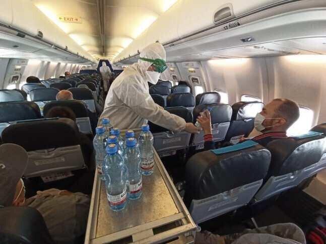 ავსტრიიდან საქართველოს მოქალაქეები 16:50 საათზე ჩამოფრინდებიან - ფოტოები ბორტიდან