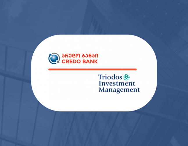 CREDO Bank Received GEL 14 Million Subordinated Debt from funds managed by Triodos Investment Management