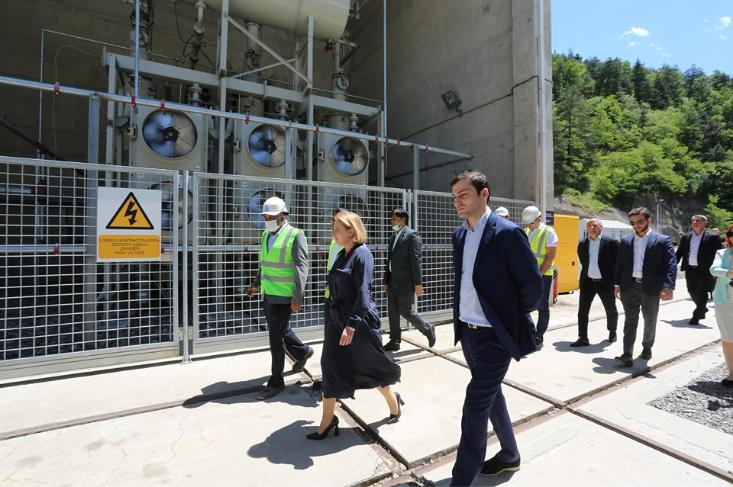 Natia Turnava and Chairman of Ajara Government paid a visit to the Shuakhevi HPP