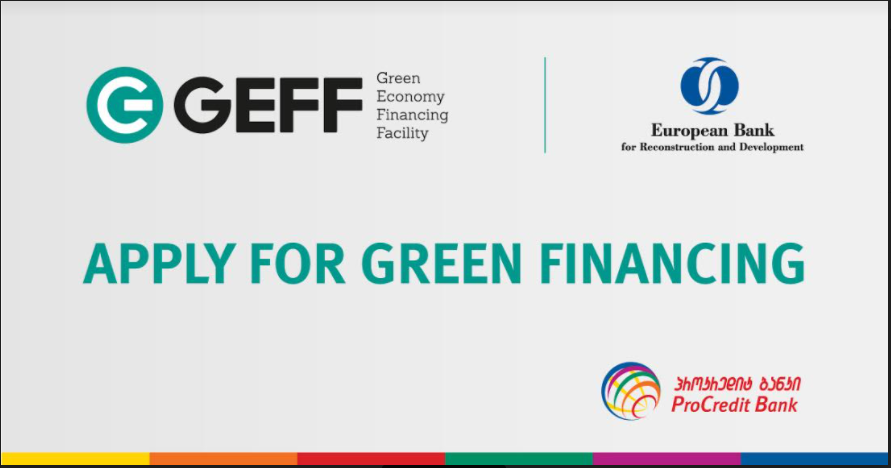 What the Green Economy Financing Facility enables ProCredit Bank to offer business clients