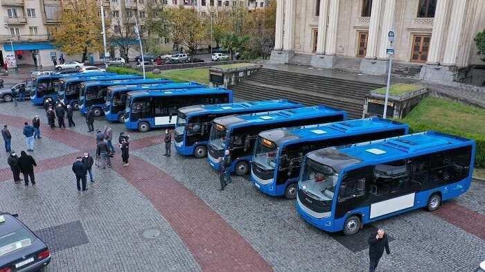 რეგიონებისთვის განკუთვნილი 175 ახალი ავტობუსიდან 10 ქუთაისს გადაეცა