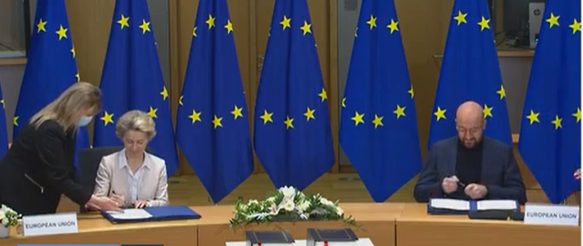 ევროკავშირმა Brexit-ის შეთანხმებას ხელი მოაწერა