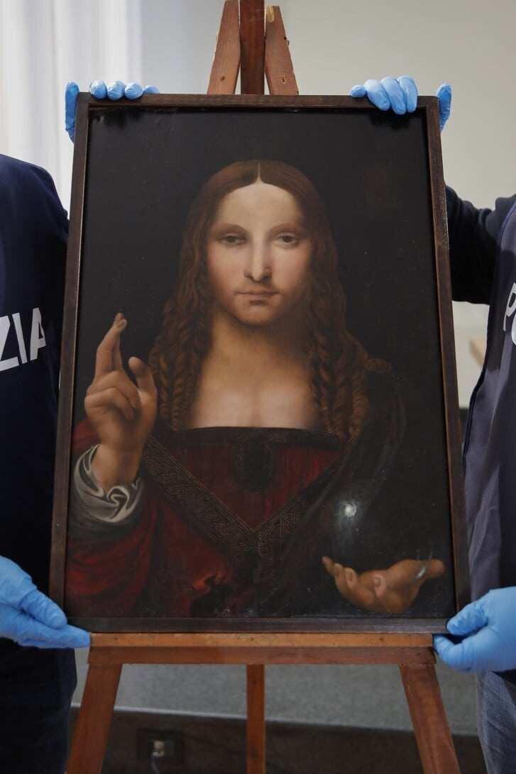 ლეონარდო და ვინჩის 500 წლის Salvator Mundi-ის მოპარული ასლი ნაპოვნია
