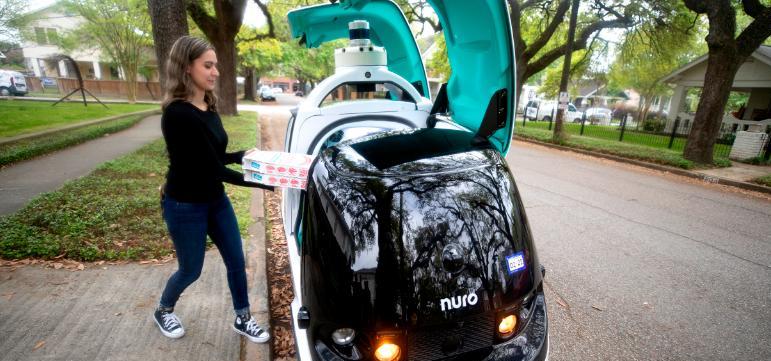 Domino's pizza მომხმარებელს პიცას რობოტების მეშვეობით მიაწვდის