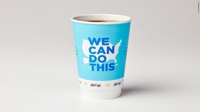 McDonald's საკუთარ ჭიქებს კოვიდ-ვაქცინის პოპულარიზაციის გასაზრდელად გამოიყენებს