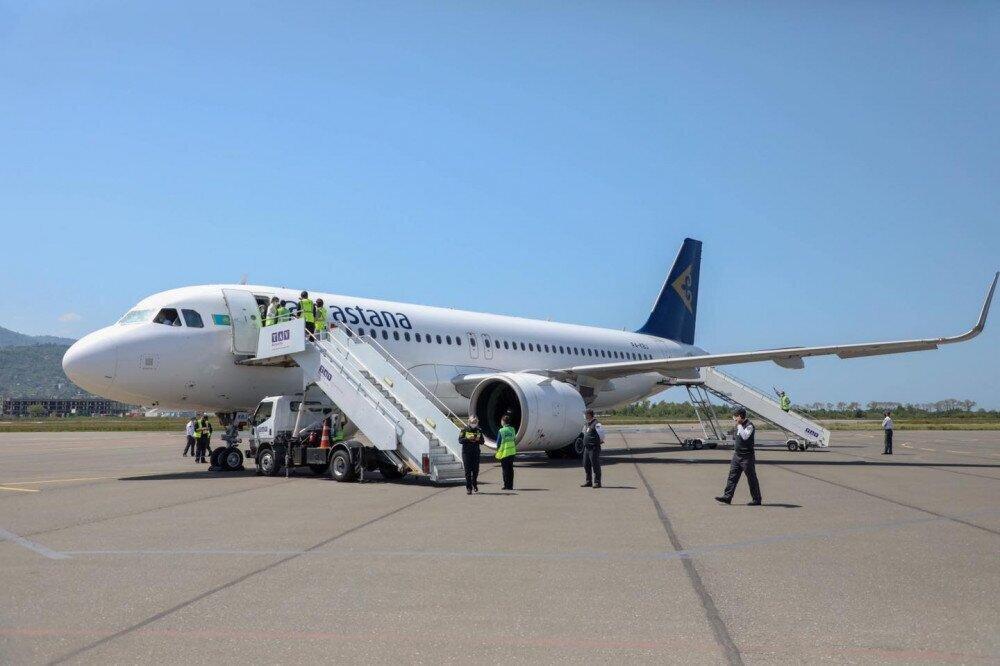 Air Astana-მ ალმატი-ბათუმის მიმართულებით პირველი პირდაპირი რეისი შეასრულა