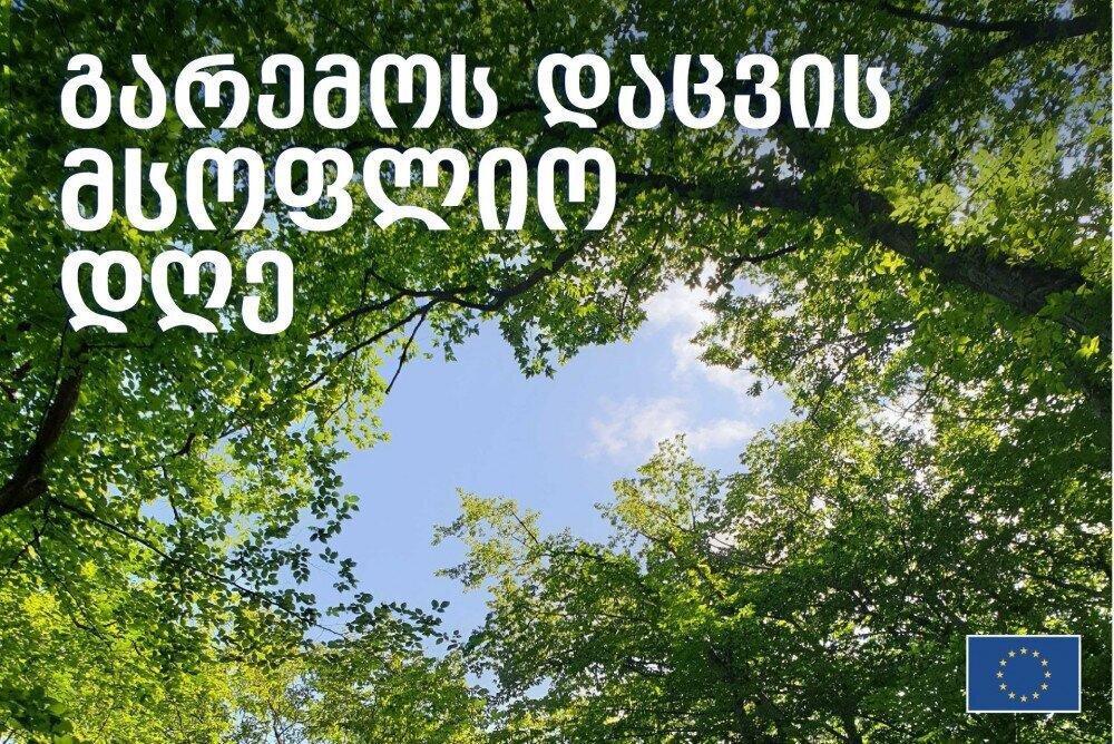 დღეს ევროკავშირი საქართველოში გარემოს დაცვის მსოფლიო დღეს აღნიშნავს