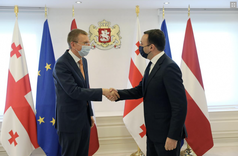 PM Met with Latvian Foreign Minister
