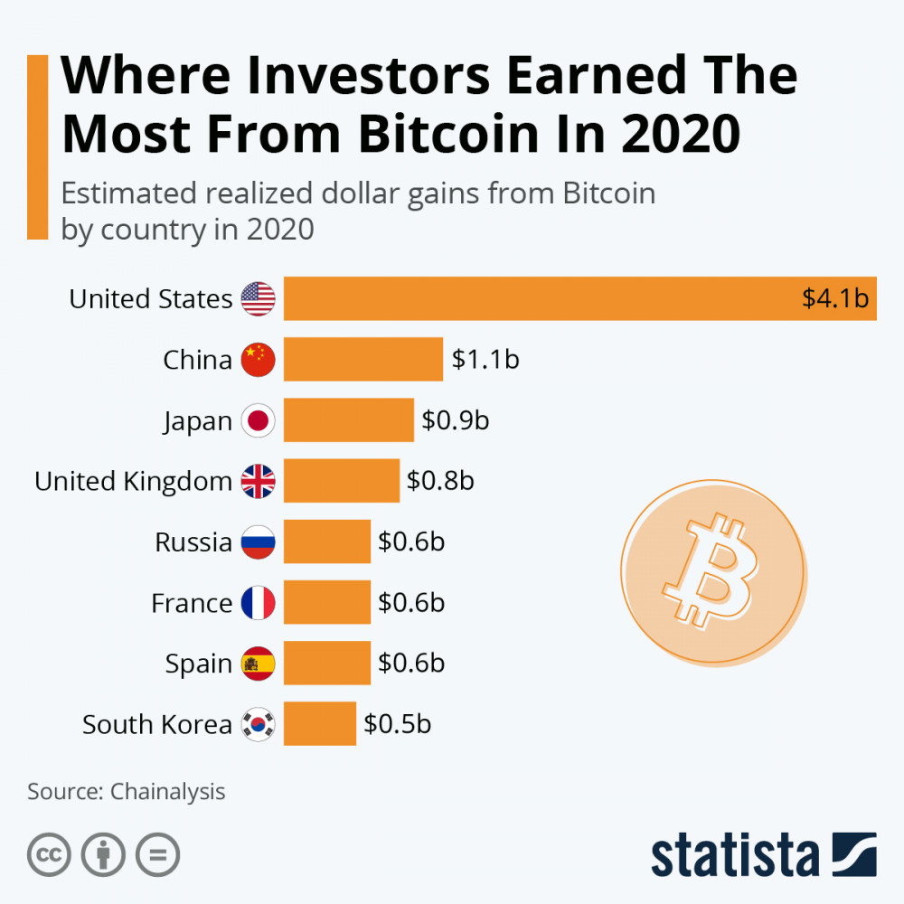 Where Investors Earned The Most From Bitcoin In 2020?