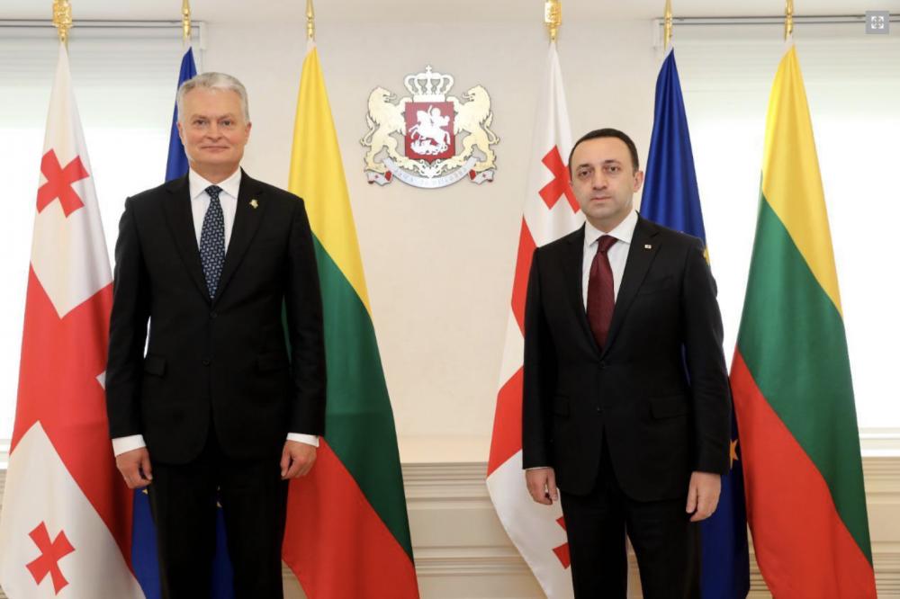 Georgian PM Meets Lithuanian President Gitanas Nausėda