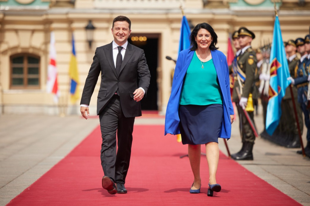 Ukraine and Georgia United by Goals of EU and NATO Membership - Presidents Meet in Kyiv