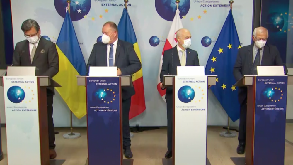 'We should be proud that our partners want to move closer the EU' - Borrell's remarks after meeting senior officials from Georgia, Moldova and Ukraine