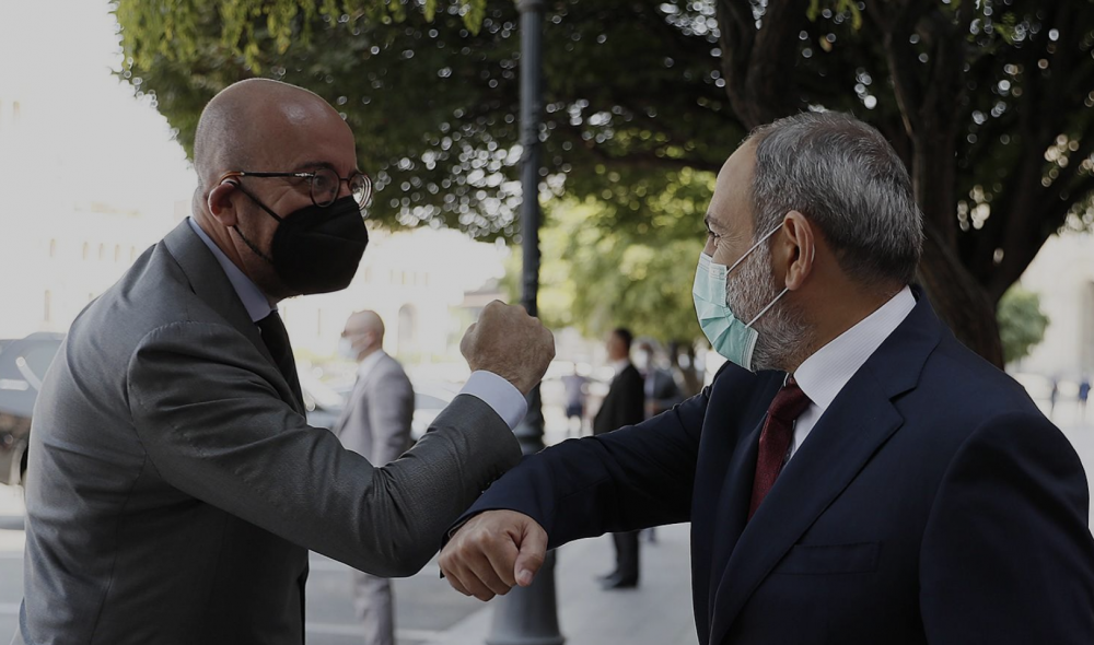 Armenia's PM and European Council President Meet in Yerevan