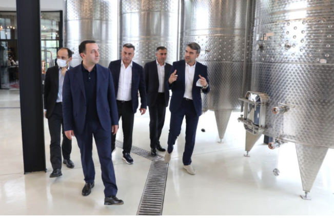 PM Visited Naberauli Winery