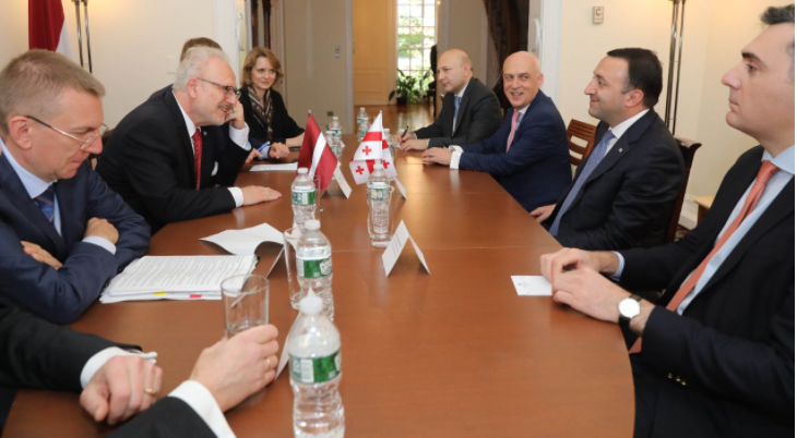 PM Meets President Of Latvia In NYC