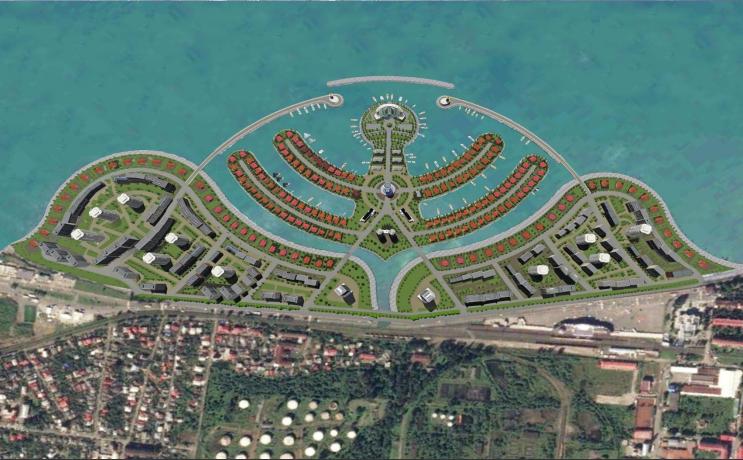 """ბათუმში კუნძულის მშენებლობაზე $100 მილიონის ინვესტიციას  """"ამბასადორი"""" განახორციელებს"""